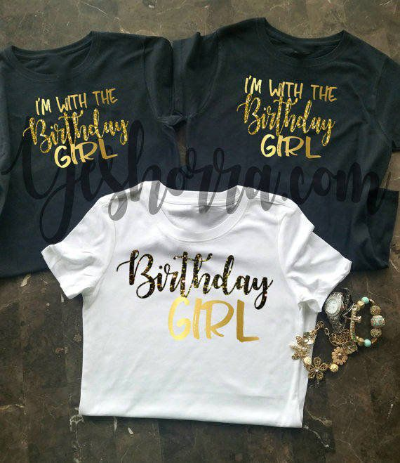 Birthday Group Shirts Party Shirt Women Crew Squad Im With The Girl In 2019