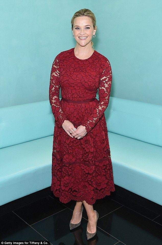 e87130719b86 Reese Witherspoon looked effortlessly elegant as she attended the Tiffany    Co. Holiday Breakfast in New York City on Wednesday morning