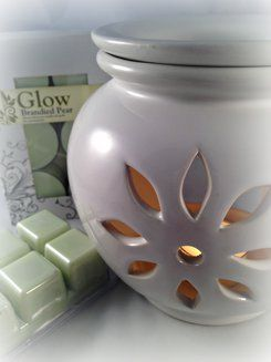 Melt warmer and soy melts and tealights in Brandied Pear fragrance.