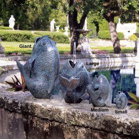Design Toscano Asian Fish Bronze Spitting Pool Fountain Su1864