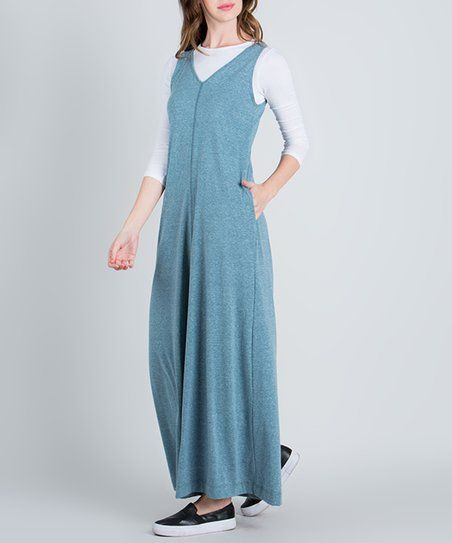 Teal Pocket Palazzo Jumpsuit   zulily