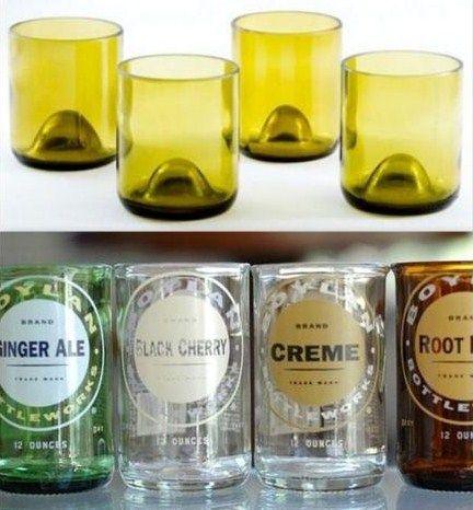 Les 25 meilleures id es de la cat gorie bouteille en verre - Comment couper une bouteille en verre ...