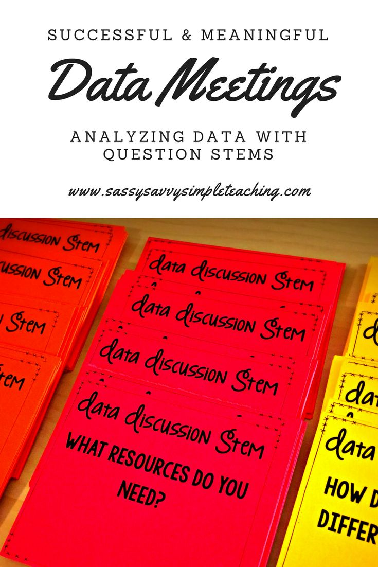 Date meetings made easy! Using question stems to guide discussion to analyze data to make your meeting meaningful for future instruction! All this and more on the blog to get you and your team started!
