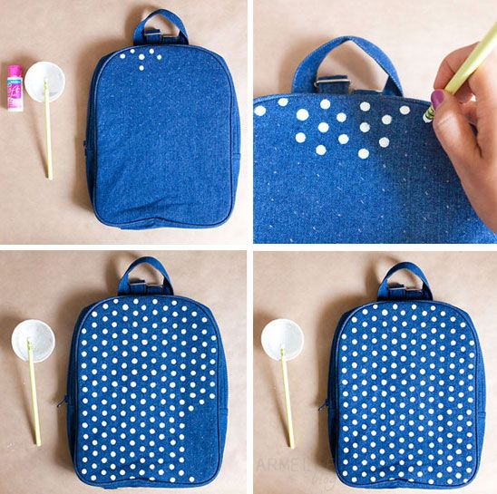 diy: polka dot backpack tutorial simple, and a perfect way to spruce ...