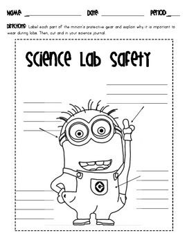 Worksheets Lab Safety Worksheet 25 best ideas about science lab safety on pinterest minion safety