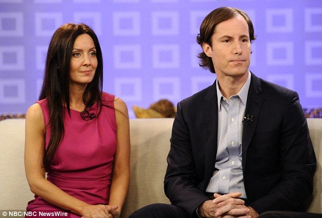 Loss: Andrew Madoff and his fiancée Catherine Hooper on television. He died of cancer last year, leaving two children.