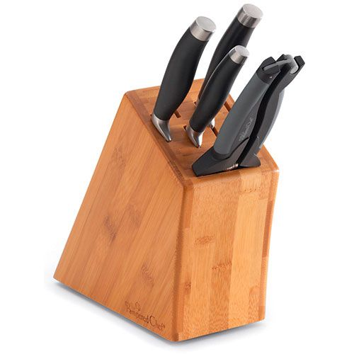 Small Bamboo Knife Block Set - Shop | Pampered Chef US Site