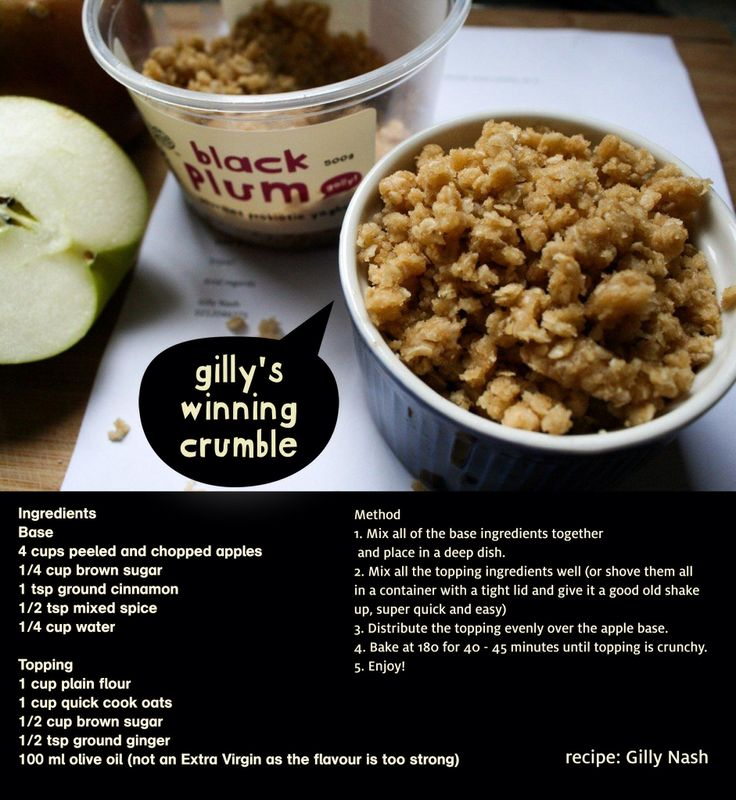 oh for the love of a darn good crumble };8 #lufftheherd and this family recipe from gilly, is a real keeper especially when drowned in our yummy runny yoghurt with honey, no bull!
