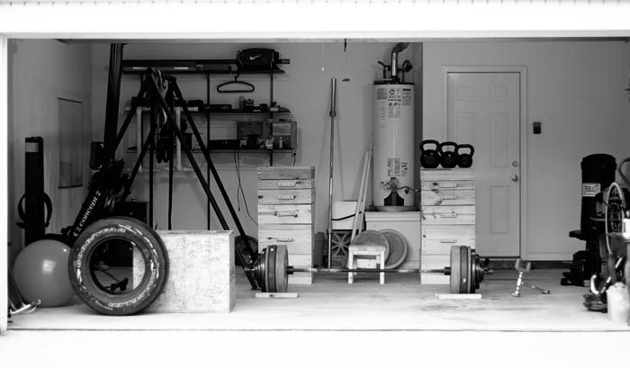 How to turn your garage into a home gym via lexi pixel r