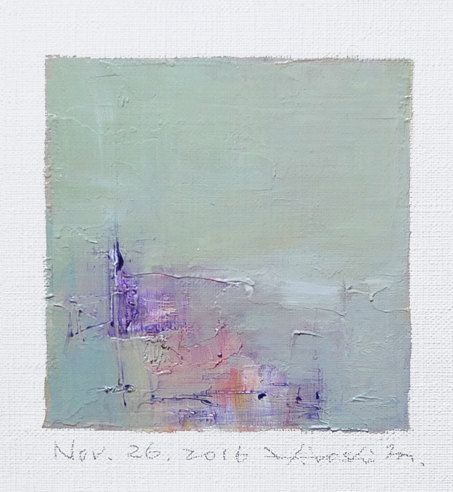 Nov. 26 2016 Original Abstract Oil Painting by hiroshimatsumoto