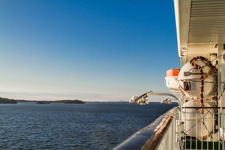 Lumoava meri ja Turun saariston kauneutta kannella, Baltic Princess.