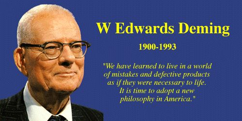 This is a great reflection on dr. edwards deming work and how quality always cost less...