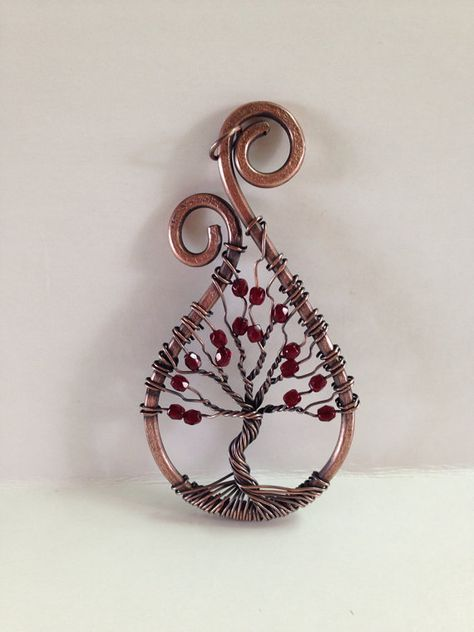 Tree of Life Pendant by CraftsByBrie on Etsy