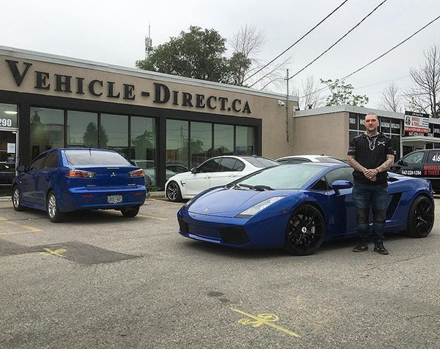 **SOLD** @whiteamigo_ Just Picked Up This Customized 2008 Gallardo! Congratulations & enjoy!#vehicledirect