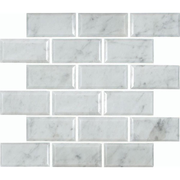Msi Greecian White Beveled 12 In X 10 Mm Polished Marble Mesh Mounted Mosaic Tile Inspiring Pinterest Tiles Wall Tilearble