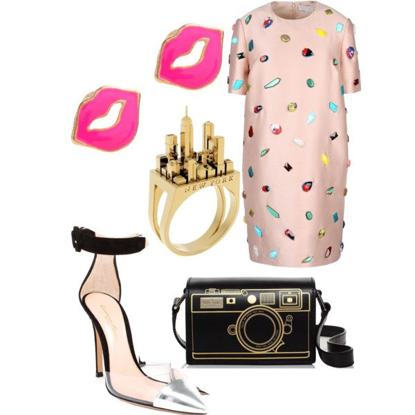 A fashion look from February 2015 featuring STELLA McCARTNEY dresses, Gianvito Rossi pumps and Artelier by Cristina Ramella rings. Browse and shop related look…