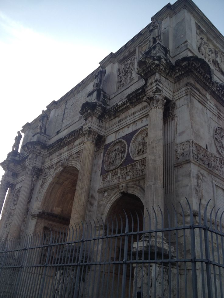 Built in 315 AD, the arch of Constantine is the largest Roman triumphal arch.