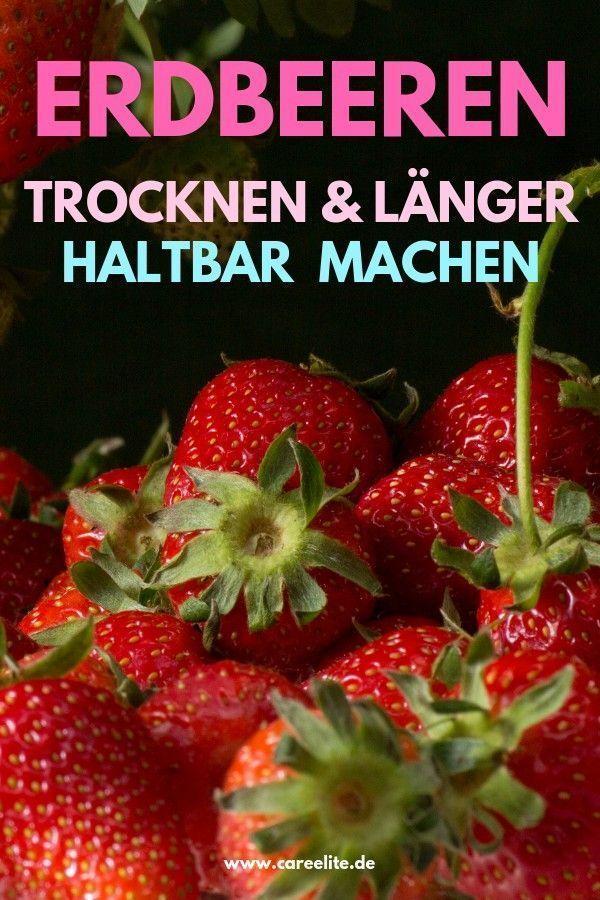 Erdbeeren trocknen, dörren und haltbar machen – So geht's – #dörren #Erdbeeren…
