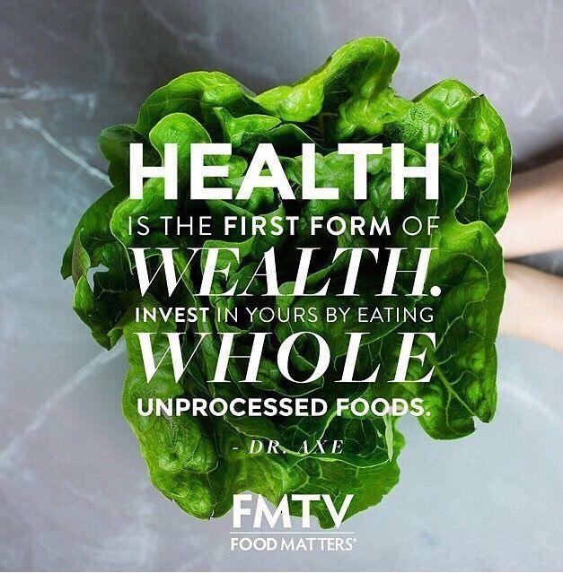 Инвестируй в себя, употребляя в пищу целые необработанные продукты.