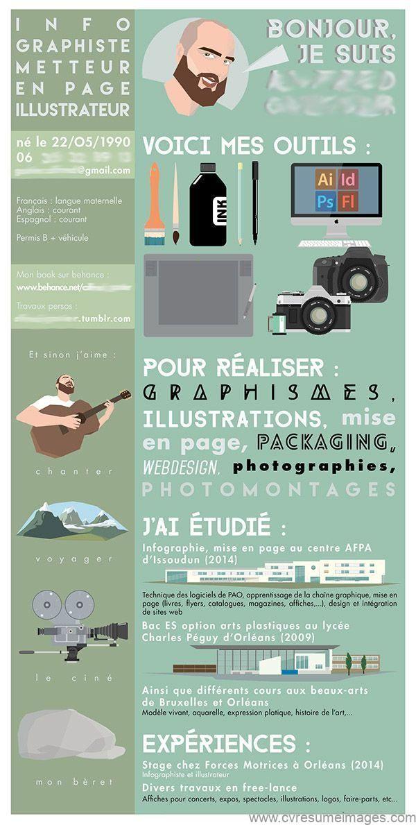 Impression Cv Resumes Cv Examples Resume Examples Resume Images Graphic Design Resume Cv Infographic Creative Cv