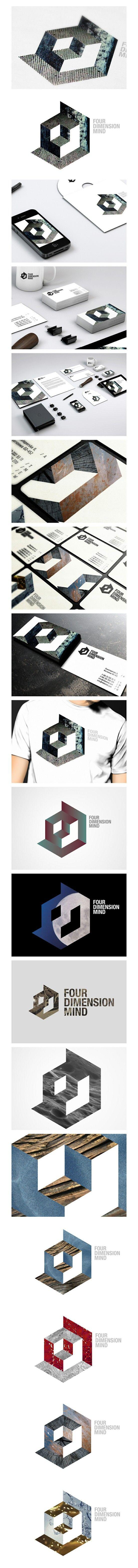 Cool Brand Identity Design on the Internet. 4DMIND. #branding #brandidentity #identitydesign