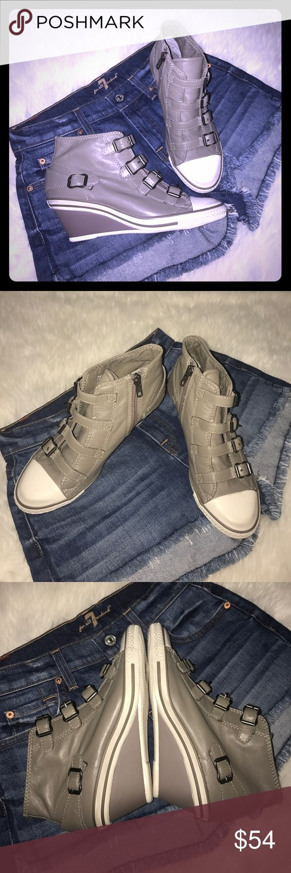 "🌸 Ash sneakers wedge Great like new!!! Ash wedge sneakers size-37 olive greyish color. Wedge-2"" Ash Shoes Sneakers"