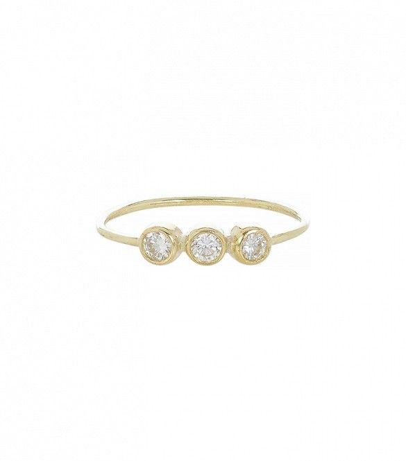 Triple Diamond Ring by Jennifer Meyer // #Jewelry #Rings