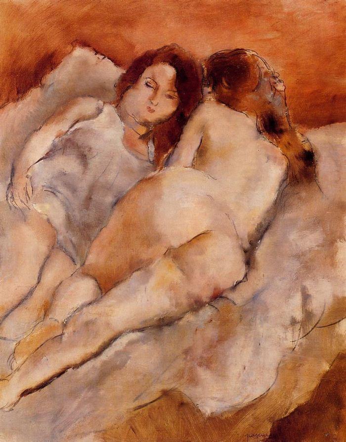 Two Friends by Jules Pascin #art