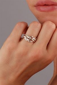 Puzzle rings. Absolutely gorgeous and simple. I had one of these in high school and loved it! I need another one