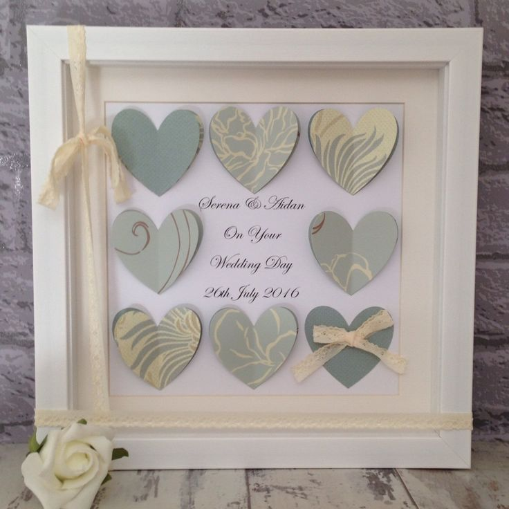 Beautiful unique wedding gifts available to order from my shop.  If you like the design and want a different colour theme then let me know.