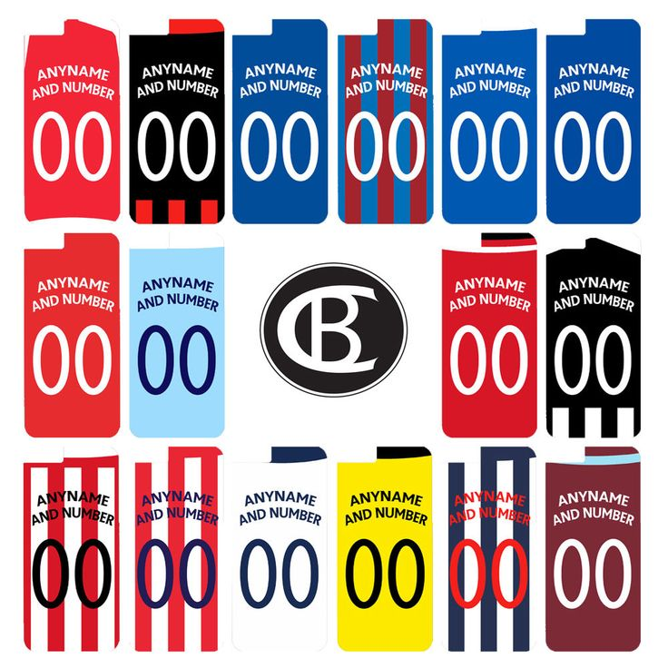 Personalised Football League Team Shirt Gift Case Cover iPhone 4 4s 5 5s 6 6Plus