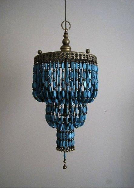 Top 25 Diy Türkis Perlen Kronleuchter Leuchter Perlen