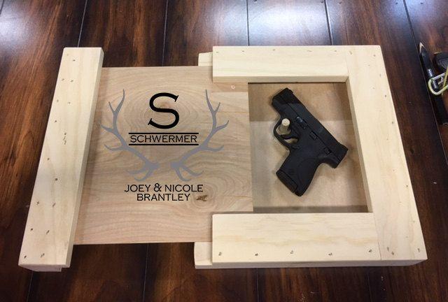 Custom Gun Concealment, Gun Hideaway, Gun Concealment Frame, Pistol Frame, Gun Frame, Mens Valentines Gift, Guys gift, Grooms Wedding Gift by INKDBYDESIGN on Etsy