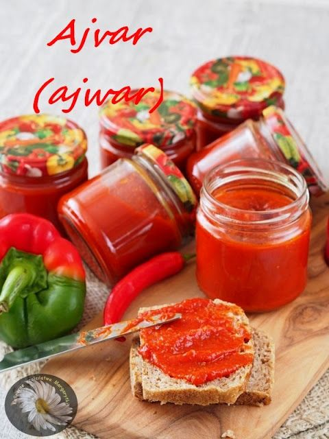 Kulinarne Szaleństwa Margarytki: Ajvar (ajwar) - pasta z papryki i bakłażanów