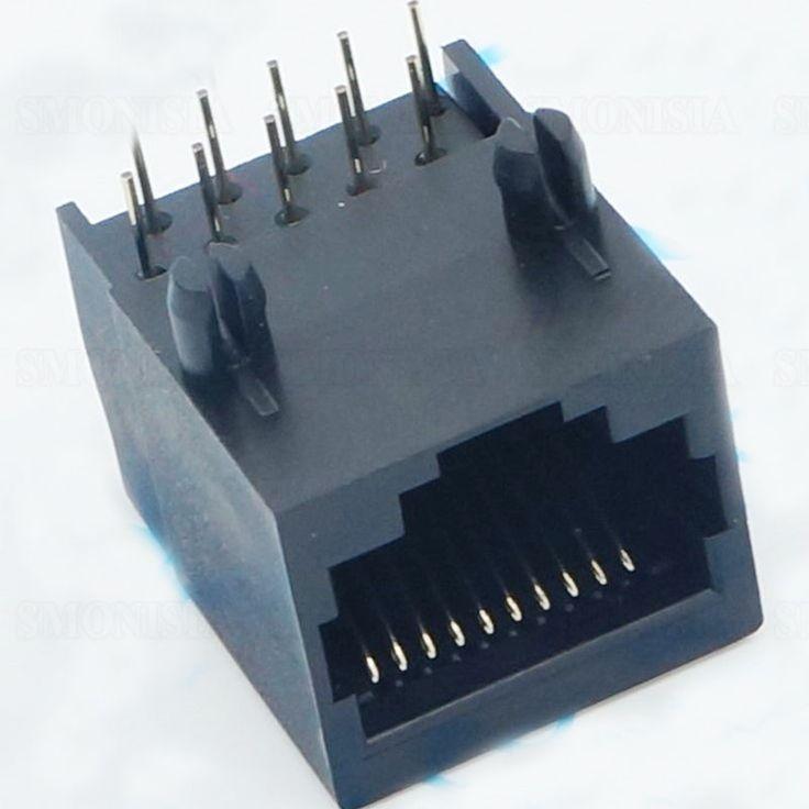 RJ45 58-8P8C Network Socket Female Horizontal 90 Degree All Plastic Connector #Affiliate
