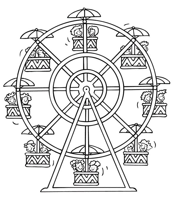 coloring pages of ferris wheel - photo #6