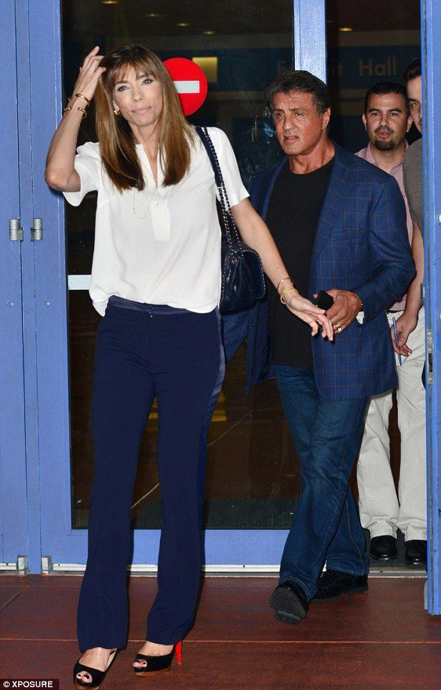 Date night!Sylvester Stallone, 69, enjoyed one of his favourite pastimes as he hunted for...