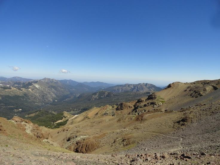 Casi al llegar a la cima, así se ve el valle de las trancas.