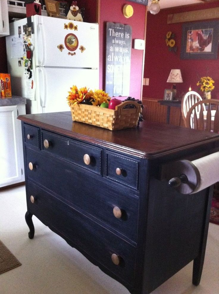 Make Dresser Into Kitchen Island