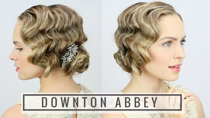 Here's an easy way to learn how to finger wave with a curling iron + get a great 1920s hairstyle for your Halloween costume!