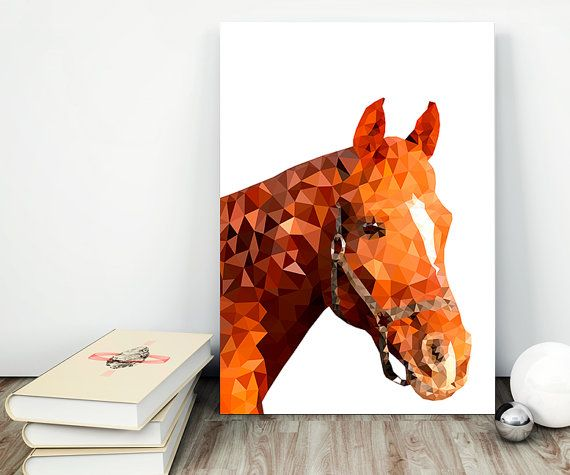 70% OFF SALE / Horse / Geometric Horse / Horse by NeedForPrint