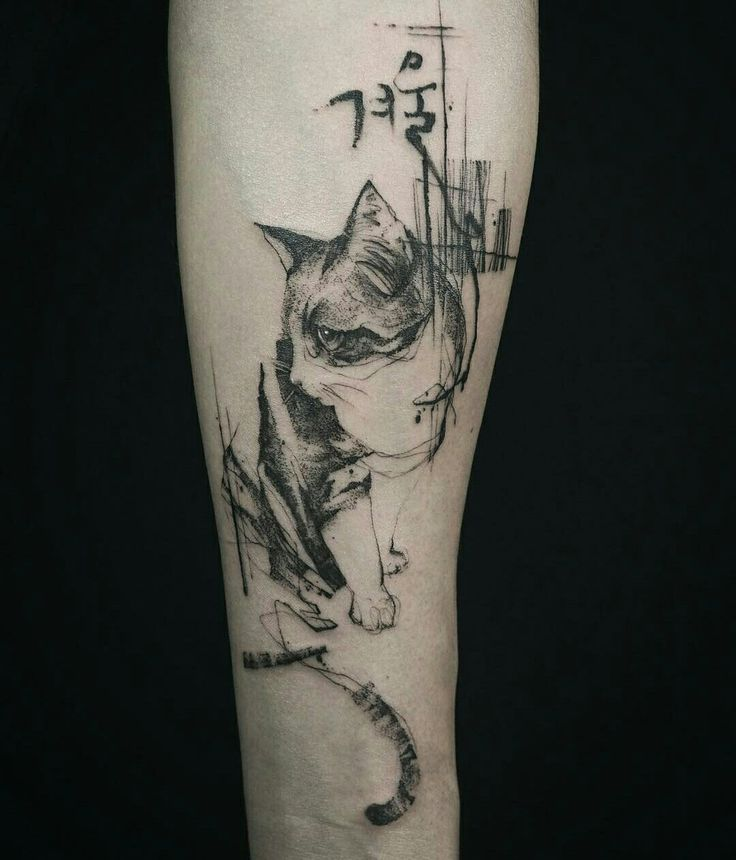 Tattoo done by: @tattooer_nadi #cat #gato #cattattoo #catlover #siames