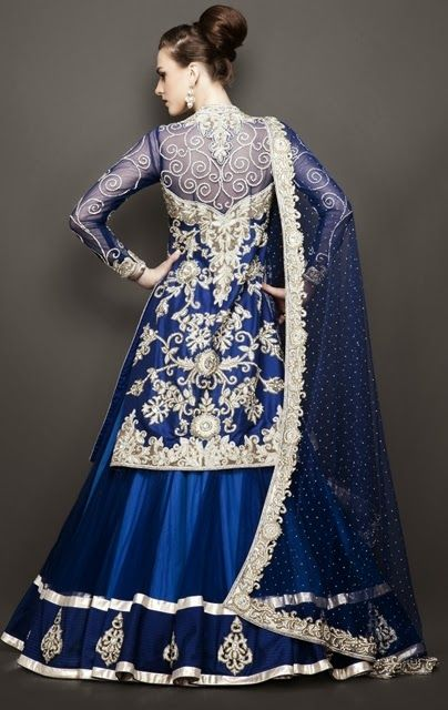 New Lehenga Choli Saree Designs Style Saree Choli Designs For Kids Online Wedding Pictures 2013-2014: Antique Bridal Lehngas 2014-2015
