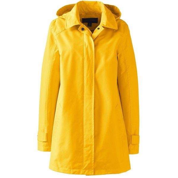 Lands' End Women's Petite Coastal Rain Parka (4,625 PHP) ❤ liked on Polyvore featuring outerwear, coats, yellow, lands' end, petite coats, rain parka, lands end coats and yellow coat