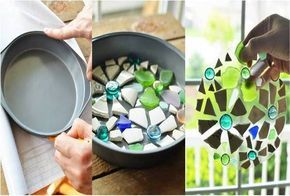 Cake Pan Stepping Stones – Do It Yourself