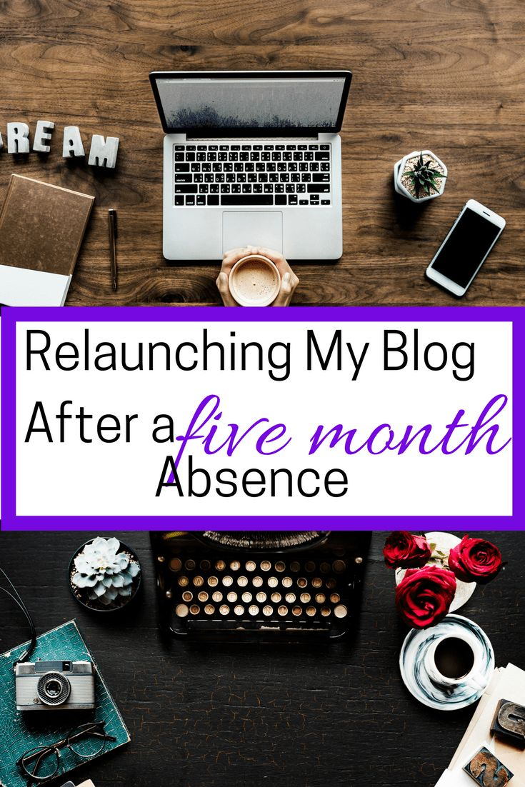 how i relaunched my blog after a five month absence. the changes i made and blog update.