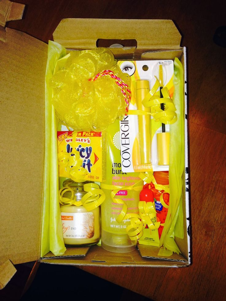 Send a box of sunshine to a long distance friend during the winter! This is to cute
