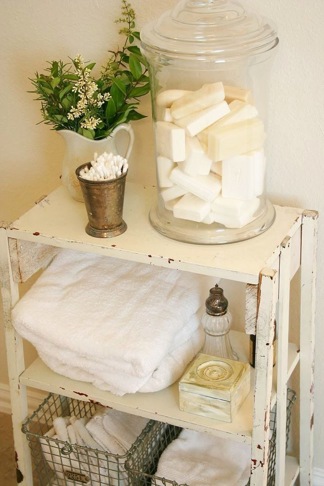 Small Bathroom Table Ideas Lovely Making Toiletries Part Of Your Bathroom Decor In 2020 Shabby Chic Bathroom Accessories Shabby Chic Decor Diy Shabby Chic Bathroom