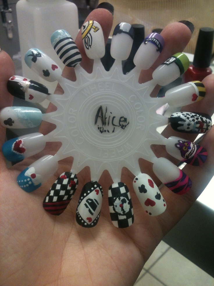 50 best nail art wheel images on pinterest nail art wheel alice in wonderland themed nail art wheel prinsesfo Image collections