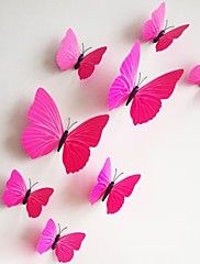 Wall Stickers Wall Decals, 12Pcs/Lot 3D PVC Magnetic rose Butterfly Sticker Home Stickers DIY Wall Stickers. – USD $ 3.99